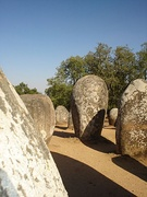 Menhirs at the Almendres Cromlech, Évora, Portugal
