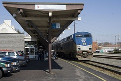 Amtrak's Carolinian, pulling into Raleigh's train station