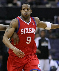 Although the NBA does not allow players to change numbers midseason, Andre Iguodala switched from #4 to #9 when Chris Webber arrived to the Sixers in 2005