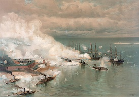 """The Battle of Mobile Bay"" by Louis Prang"
