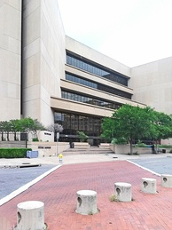 The J. Erik Jonsson Central Library in the Government District of Downtown Dallas