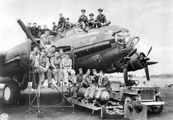 This B-17F, tail number 41–24577, was named Hell's Angels after the 1930 Howard Hughes movie about World War I fighter pilots.[21][22]