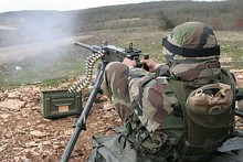 An M2HB in the French Foreign Legion's 2nd Infantry Regiment during an exercise.