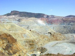The Chino open-pit copper mine in New Mexico.