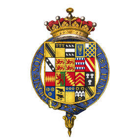Coat of arms of Robert Harley, 1st Earl of Oxford and Earl Mortimer, KG