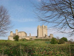 12th-century Conisbrough Castle, open to the public and property of English Heritage