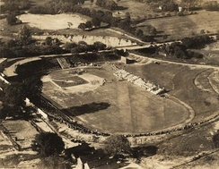 Cramton Bowl during a baseball game in the 1920s or 1930s