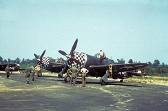 P-47 Thunderbolt aircraft of the 78th Fighter Group at Duxford, 1943