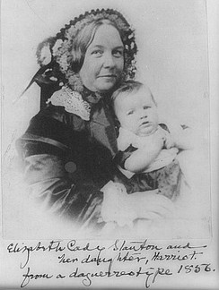 Elizabeth Cady Stanton and her daughter, Harriot