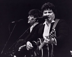 The Everly Brothers performing in New York