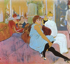 Henri de Toulouse-Lautrec, Salon at the Rue des Moulins, 1894