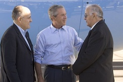 Giuliani and President Bush in Las Cruces, New Mexico, on August 26, 2004