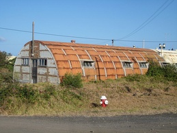 A World War II Quonset hut used to lodge members of the military
