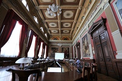 Rector's Council Hall of Budapest Business School, the first public business school in the world, founded in 1857