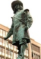 The statue of Jan van Riebeeck (the founder of Cape Town) in Heerengracht Street, Cape Town, South Africa