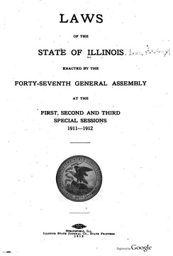 Title page of the 1912 Laws of Illinois