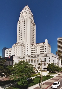 Los Angeles City Hall by John Parkinson, John C. Austin, and Albert C. Martin, Sr.,(1928)