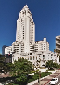 The Civic Center in downtown Los Angeles