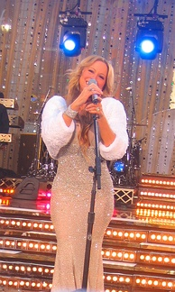 "Carey performing ""We Belong Together"" live on Good Morning America"