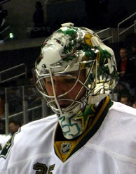 Marty Turco was awarded the starting goaltender position in the 2001–02 season, with the departure of Ed Belfour to free agency.