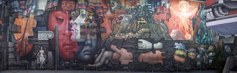 Presencia de América Latina (Presence of Latin America, 1964–65) is a 300 square meters (3,200 sq ft) mural at the hall of the Arts House of the University of Concepción, Chile. It is also known as Latin America's Integration.