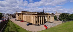 The National Gallery of Scotland, Edinburgh, designed by William Henry Playfair, is a Category A listed building.[61]