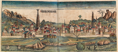 Depiction of Vienna in the Nuremberg Chronicle, 1493