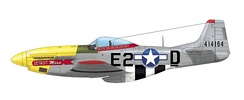 "North American P-51D-10-NA Mustang 44-14164 ""Detroit Miss"" of the 375th Fighter Squadron of the 361st Fighter Group USAAF. Urban L. ""Ben"" Drew flew this aircraft in the autumn 1944 a shot down four German aircraft. Totally he claimed six victories"