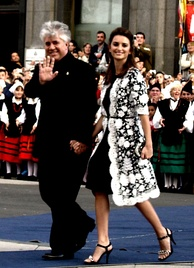 Pedro Almodóvar and Penélope Cruz in Oviedo (Princess of Asturias Awards)