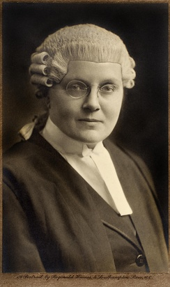 Helena Normanton, first female British barrister.