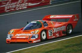 A Porsche 956 run by Brun Motorsport at the Nürburgring.