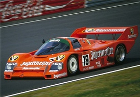 Porsche 956 and 962C, like this in Jägermeister livery, won the 24 Hours of Le Mans six years in a row in the 1980s.