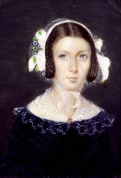 Watercolour of Fanny Brawne, 1833.
