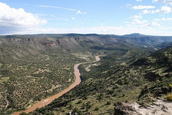 View of the Rio Grande from Overlook Park, White Rock, New Mexico
