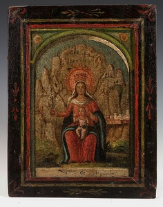 Virgin of Montserrat from Puetro Rico, ca. 1775-1825.