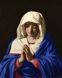 The Virgin Mary in prayer, by Sassoferrato, 17th century.