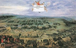 Contemporary painting showing the Battle of White Mountain (1620), where Imperial-Spanish forces under Johann Tserclaes, Count of Tilly won a decisive victory.
