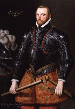 A portrait of Sir Richard Grenville (1542–1591) heroic captain of the Revenge