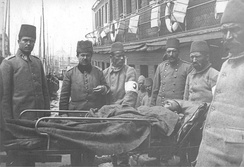 Transporting Ottoman wounded at Sirkeci