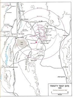Map of the Trinity Site