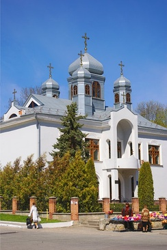 The Church of the Cross of the Lord is located in Kremenets and is part of the Ukrainian Lutheran Church, which uses the Byzantine Rite.