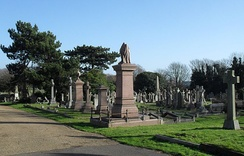 Development of Hove Cemetery began in 1879.