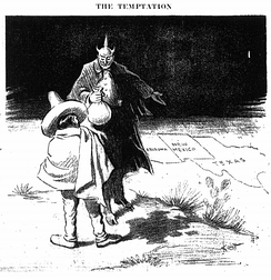 1917 political cartoon about the Zimmermann Telegram published in the Dallas Morning News