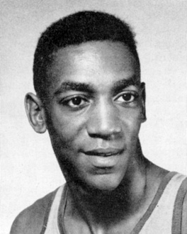 Cosby as a basketball player during his Navy service in 1957