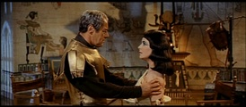 Harrison as Julius Caesar in the film Cleopatra for which he was nominated for an Academy Award