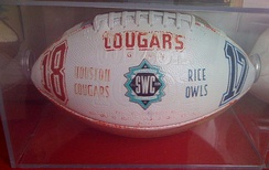 The game ball from the 1995 Bayou Bucket Classic, the last game in Southwest Conference history