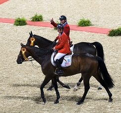 2008 Olympic equestrian jumping gold medalists Beezie Madden and Will Simpson