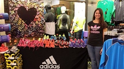 Adidas running shoe demo in Boston