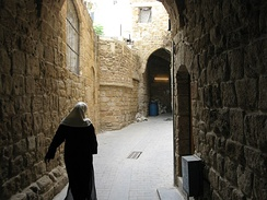 Alleyways of the old city of Sidon.