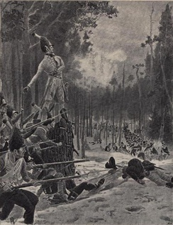 The Battle of Trangen during the Dano-Swedish War, 1808–1809. The Norwegians fought bravely and defeated the Swedes.